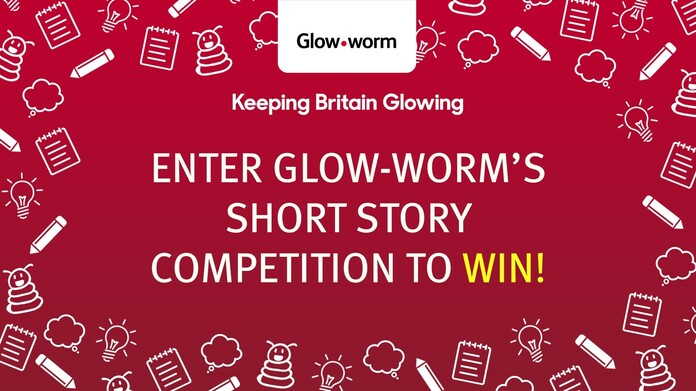 "Image with icons related to colouring with the text ""Keeping Britain Glowing: Enter Glow-worm's short story competition to win!"""