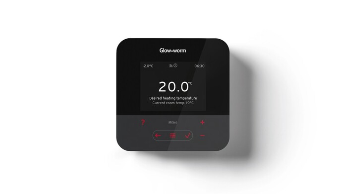 Glow-worm MiSet heating control on a white background